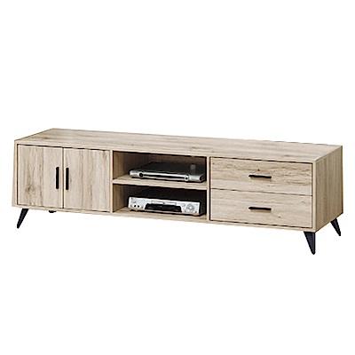 綠活居 尼亞時尚7尺木紋電視櫃/視聽櫃(二色可選)-212x40x50cm-免組