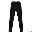 內刷絨前後口袋刷舊牛仔褲 共二色 TATA-(S~L)
