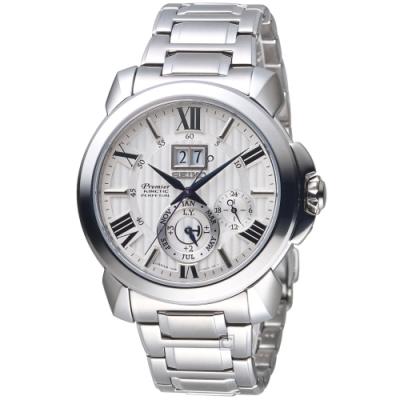 SEIKO PREMIER 人動電能萬年曆腕錶(7D56-0AE0S)SNP139J1