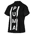 PUMA-女性流行系列XTG圖樣短袖T恤-黑色-歐規