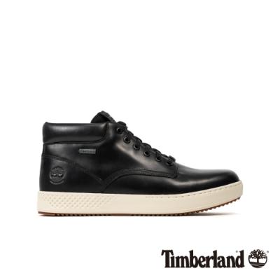 Timberland 男款黑色全粒面革防水休閒鞋|A22S8