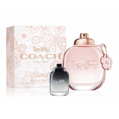 [時時樂限定]COACH 芙洛麗女性淡香精30ml(贈品牌小香4.5ml)-快速到貨