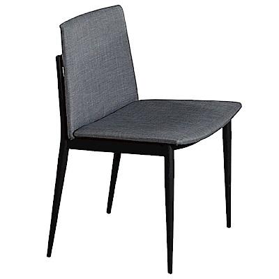 文創集 路斯時尚亞麻布造型餐椅組合(二入組+二色可選)-50x48x78cm免組
