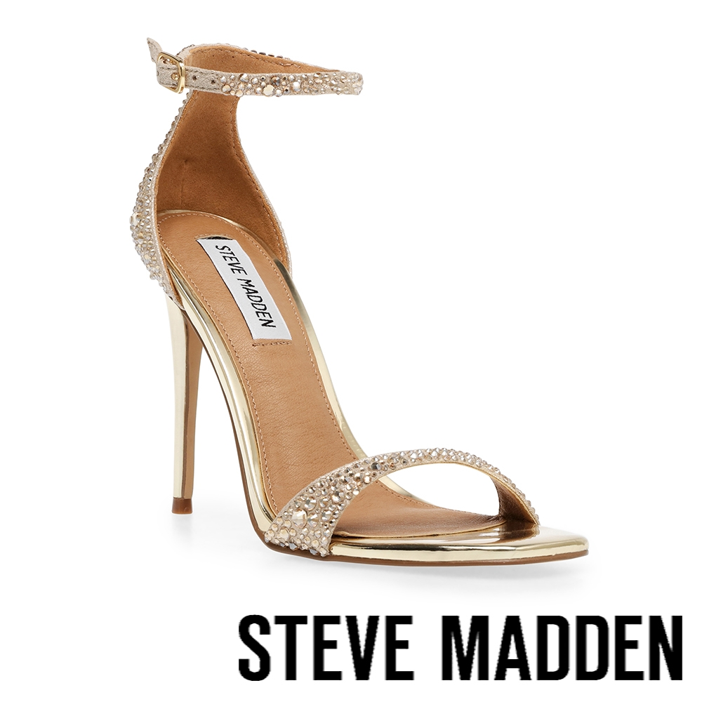 STEVE MADDEN-KASSANDRA-R 水鑽繞踝細跟高跟鞋-金色