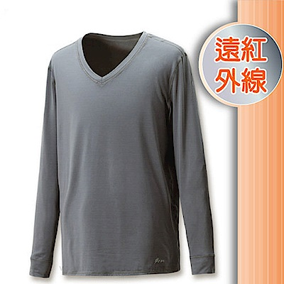 FIT 男 遠紅外線V領保暖內衣_FW1502 科技灰 V