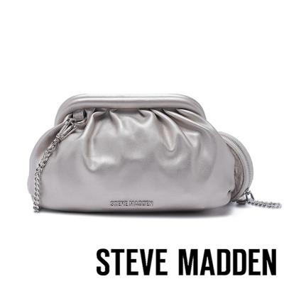 STEVE MADDEN-BAMAIZ 軟綿皮質雲朵子母包-銀色