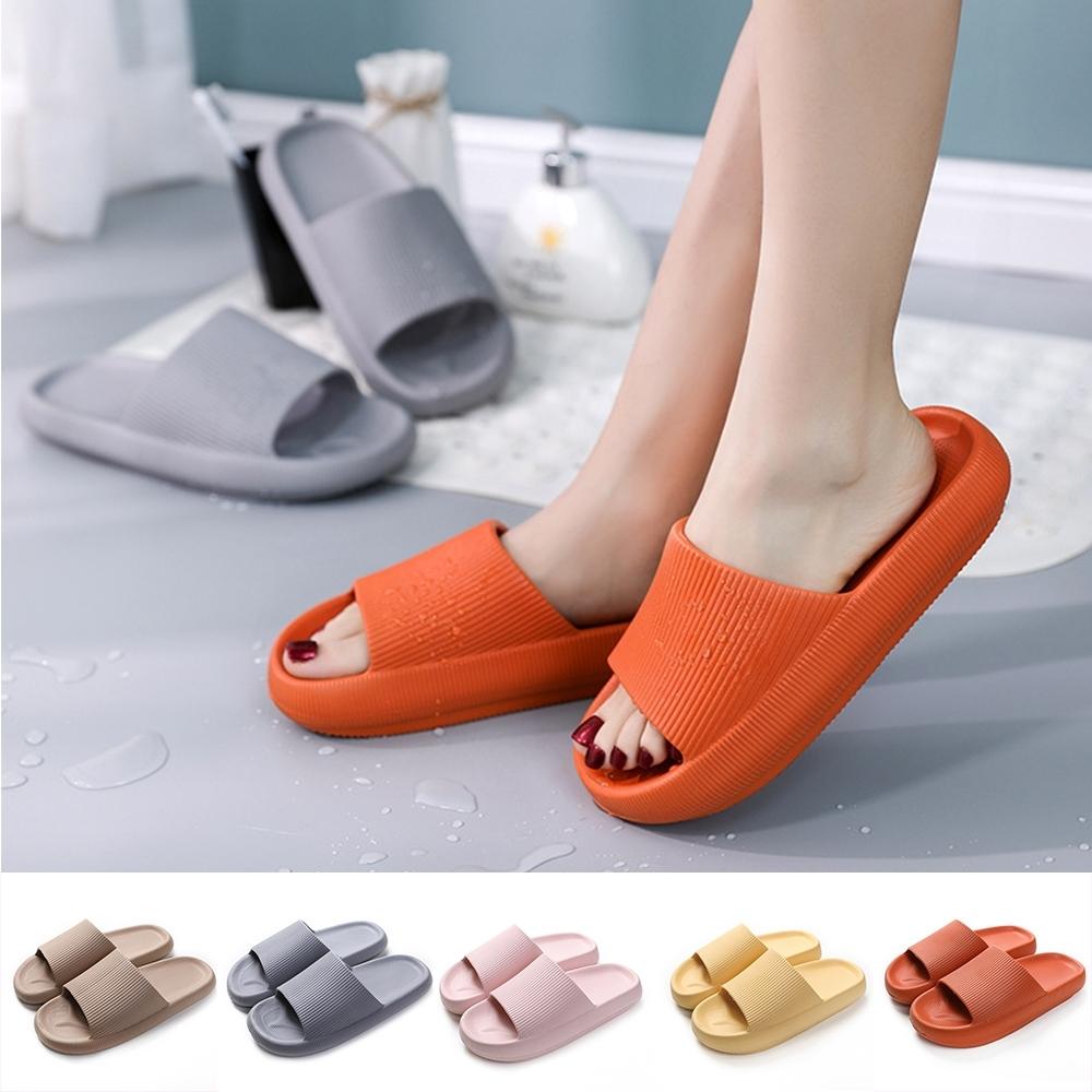 【西格傢飾】EVA加厚靜音防滑厚底拖鞋(6色)