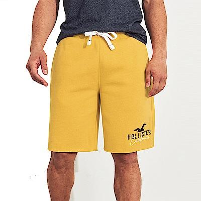 海鷗 Hollister HCO 經典電繡大海鷗休閒運動短棉褲-黃色