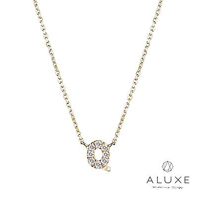 A-LUXE 亞立詩 Alphabet系列10K鑽石項鍊-Q