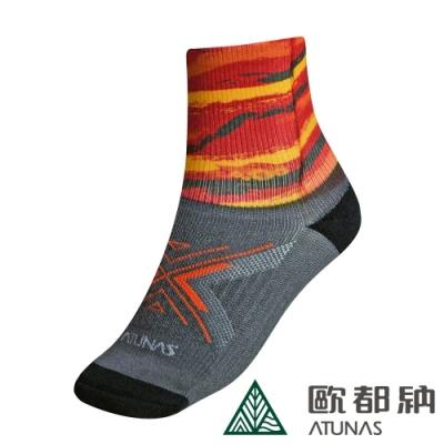 【ATUNAS 歐都納】七山一湖健行襪A6AS1907N紅/吸濕排汗/乾爽舒適