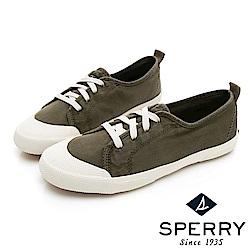SPERRY 時尚簡約低筒帆布鞋(女)-橄欖綠