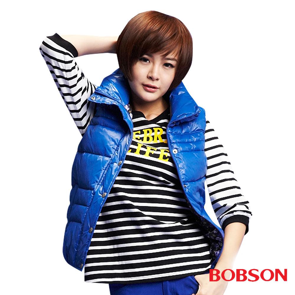 BOBSON 女款絲棉背心(藍54)