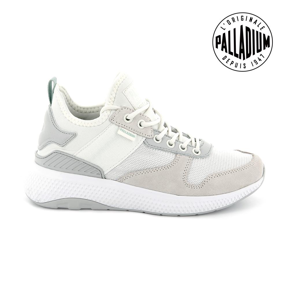 Palladium AX EON Army Runner復古慢跑鞋-女-白