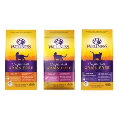 WELLNESS寵物健康-GRAIN FREE全方位無穀系列-室內貓食譜 11.5LBS/5.2KG (贈全家禮卷100元)