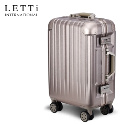 LETTi 太空漫遊II 20吋鋁框行李箱(香檳金)