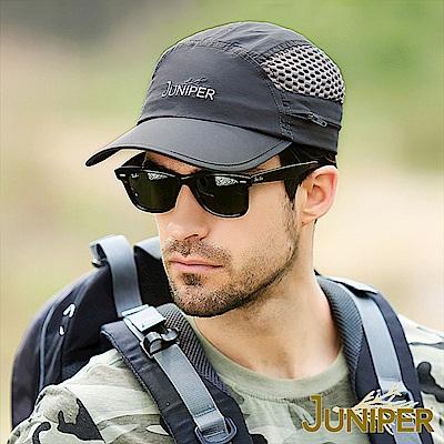 JUNIPER 戶外防紫外線UV可收納披風透風鴨舌帽