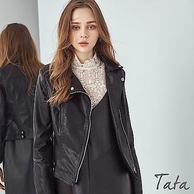 騎士拉鍊皮外套 TATA-F