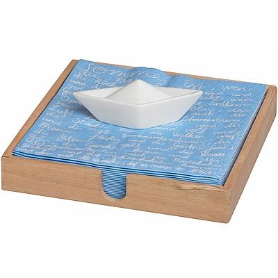 《RADER》餐巾紙收納盒+帆船紙鎮