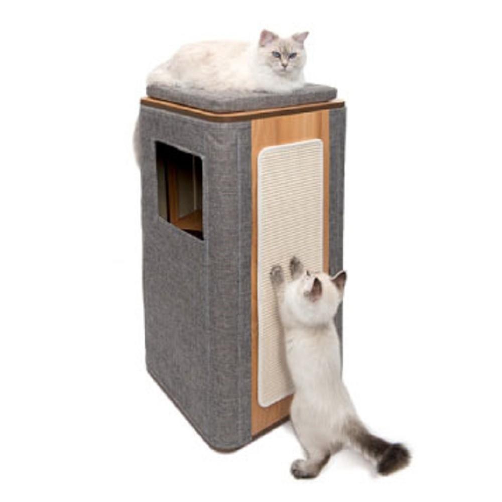 赫根Hagen Vesper貓用實木家具《隔層高型積木屋》52094