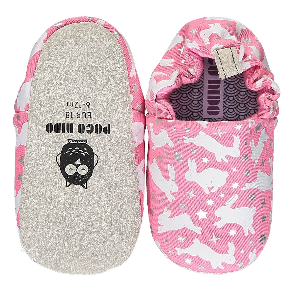 英國 POCONIDO 手工嬰兒鞋 (粉紅兔兔)