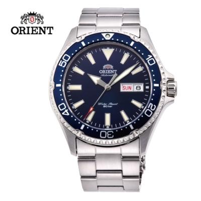 ORIENT 東方錶 WATER RESISTANT系列 200m潛水錶 鋼帶款 藍色 RA-AA0002L