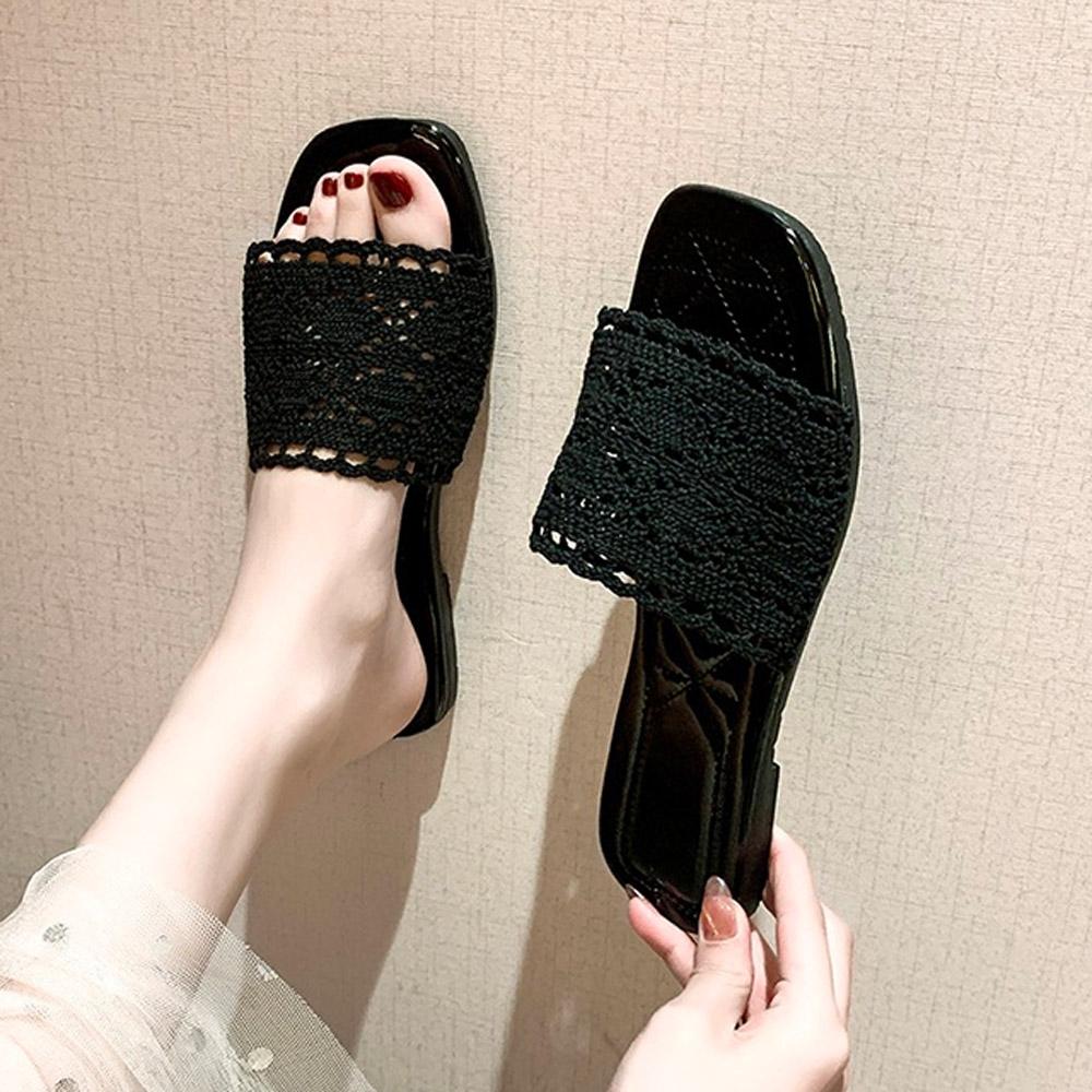 KEITH-WILL時尚鞋館-獨賣甜心單品涼托鞋(涼鞋/涼跟鞋)(共2色) (黑色)
