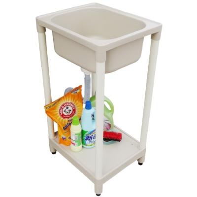 新式小型單槽塑鋼水槽 洗衣槽 洗手台-1入