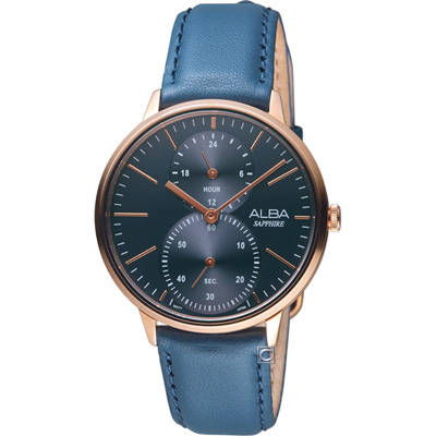 ALBA 文青時尚生活腕錶(A3A018X1)藍色38mm