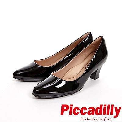 Piccadilly-經典優雅-粗跟中跟女鞋-亮面