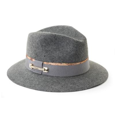 Alviero Martini 義大利地圖包 羊毛禮帽-灰色