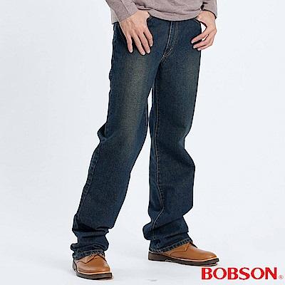 BOBSON 男款基本型中直筒褲