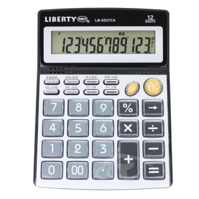 LIBERTY利百代 語音專用-桌上型12位元計算機 LB-5037