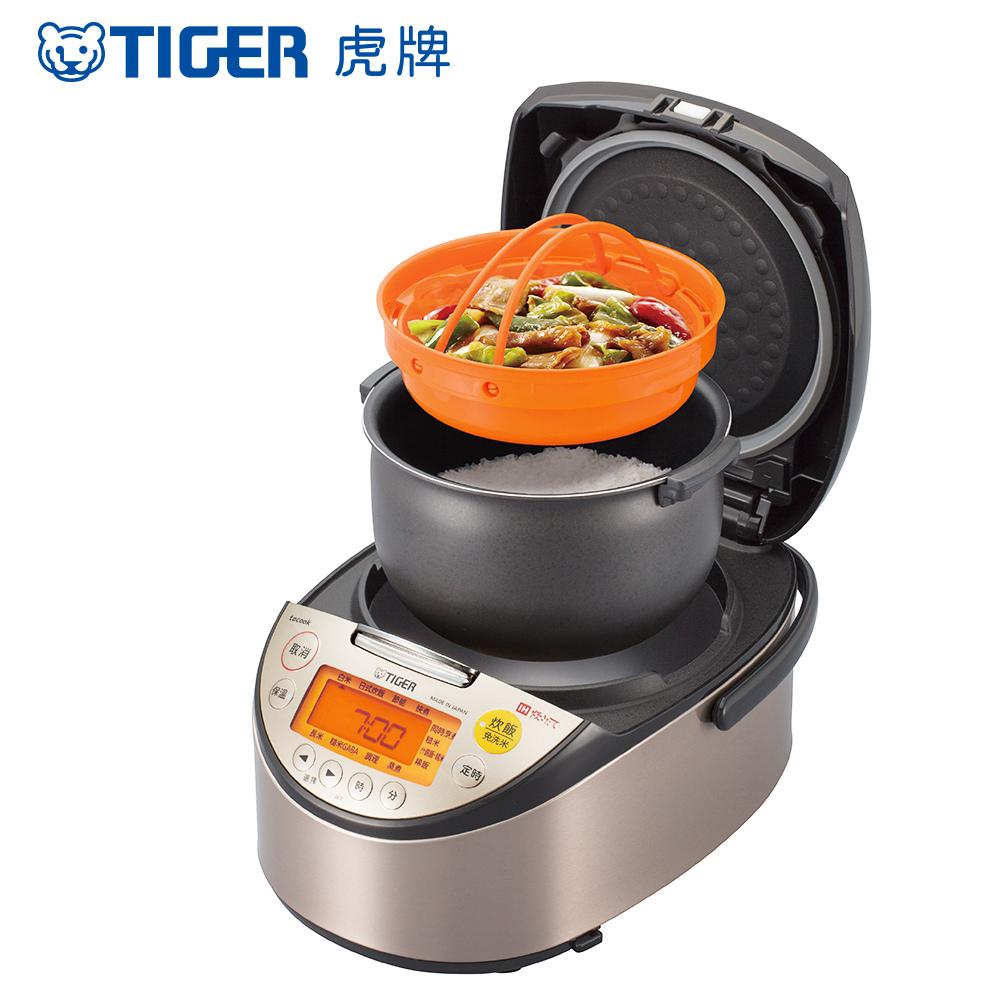 (日本製)TIGER虎牌6人份高火力IH多功能電子鍋(JKT-S10R)
