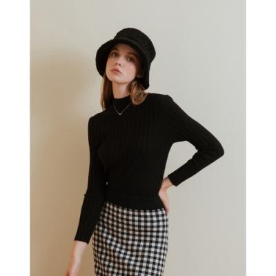 Shester55-微高領坑紋針織衫(三色)-女【A2SH092】