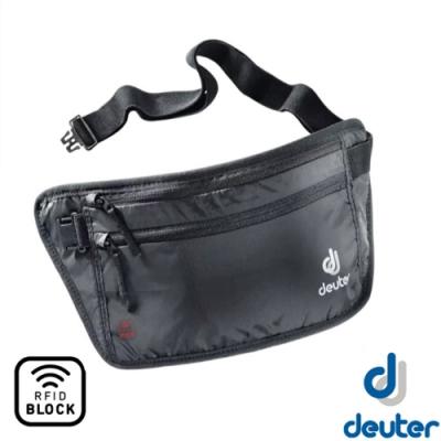 Deuter Belt II RFID 防盜隱藏式錢包.旅行用腰帶式錢包證件袋_黑