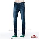 BRAPPERS 男款 HM中腰系列—中腰彈性直筒褲-藍