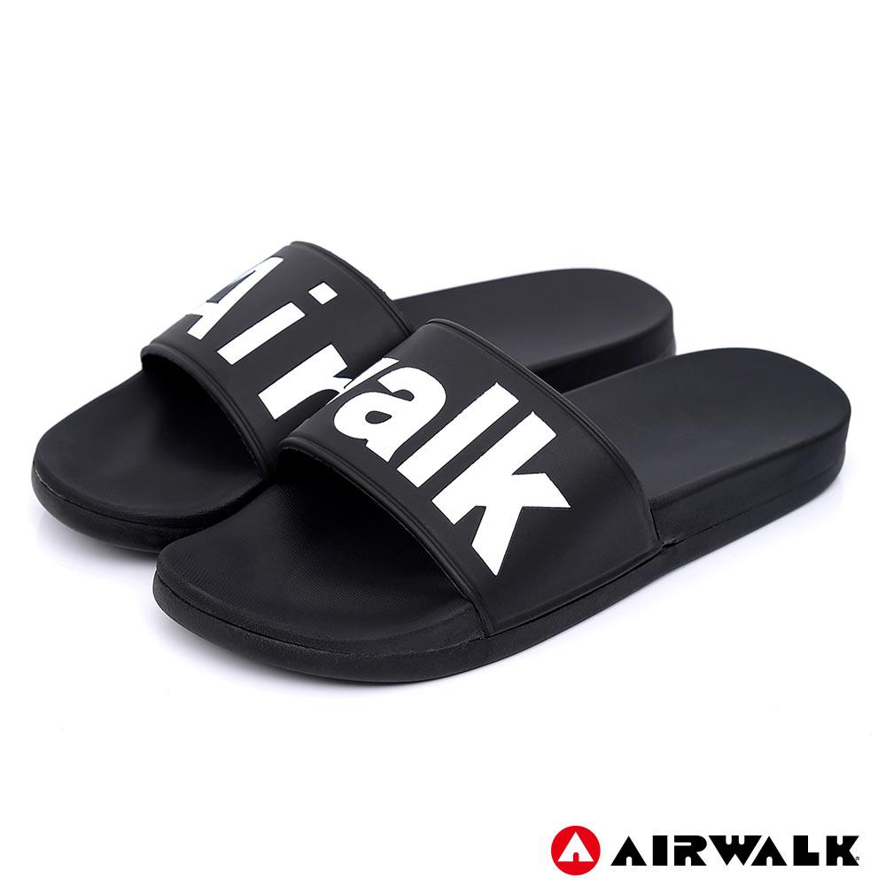 【AIRWALK】 街頭潮流運動拖鞋-黑色