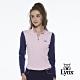 【Lynx Golf】女款假兩件式刷毛素面兩袖異色拼接長袖立領POLO衫-粉色 product thumbnail 2