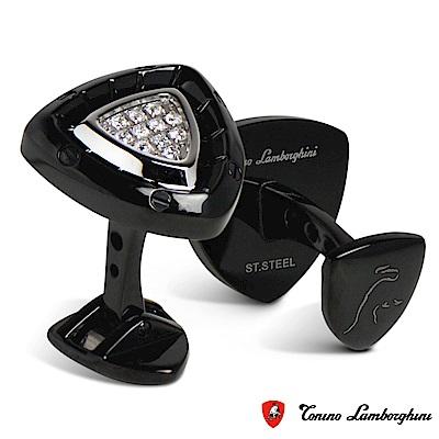 藍寶堅尼Tonino Lamborghini SPYDER BLACK系列 袖釦(黑)