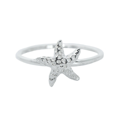Pura Vida 美國手工 Starfish海星 925純銀戒指-7號