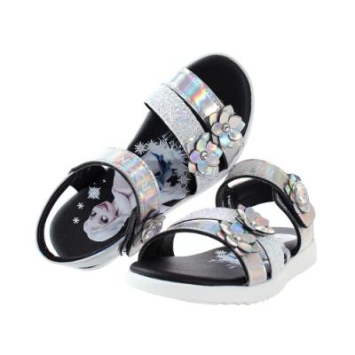 魔法Baby  中大女童鞋 台灣製冰雪奇緣正版大女孩俏麗涼鞋 sa14139