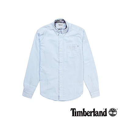 Timberland 男款淡藍色Still River長袖襯衫