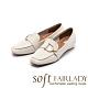 【FAIR LADY】Soft芯太軟 飾釦縫線方頭內增高平底鞋 奶油白 product thumbnail 1