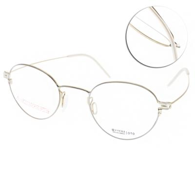 VYCOZ眼鏡 輕量大圓框款 /白-金 #OTO WHIGD