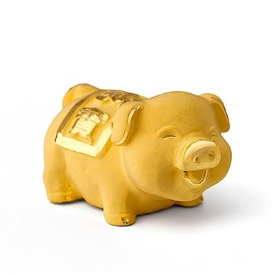 MANSTYLE 極迷你福寶豬 黃金擺件 (約0.30錢)