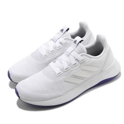 adidas 慢跑鞋 QT Racer Sport 女鞋 愛迪達 路跑 緩震 輕量 穿搭 白 藍 FY5677
