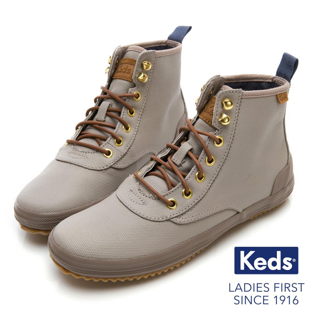 Keds SCOUT 機能防潑水時髦靴-淺灰