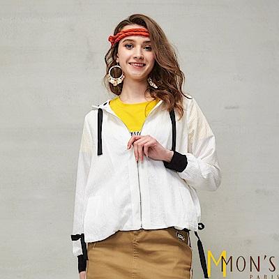 MONS  渡假風設計款造型連帽外套