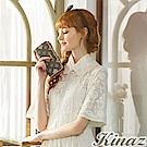 KINAZ 秘戀雛菊L型拉鍊二折長夾-香水系列