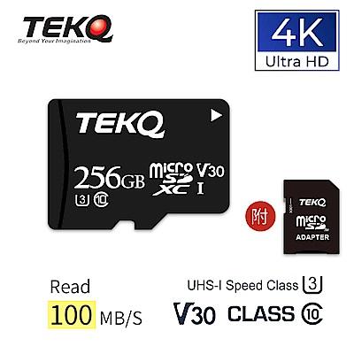 TEKQ microSDXC UHS-I(U3/V30/A1) 256GB 記憶卡